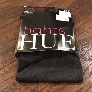 Hue Opaque Dark Gray Tights Size 3